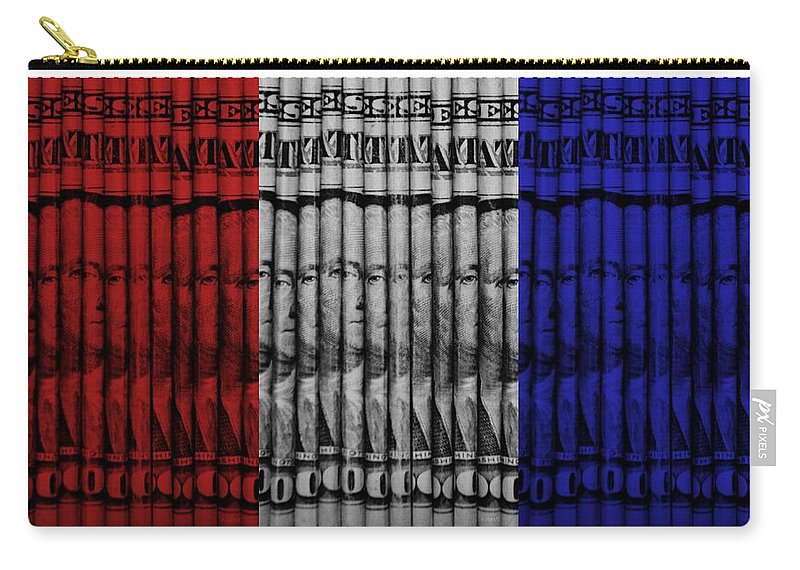 Money Carry-all Pouch featuring the photograph Singles In Red White And Blue by Rob Hans