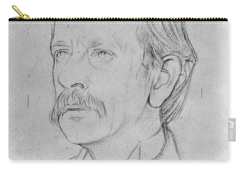 1915 Carry-all Pouch featuring the photograph Sir J.j. Thomson (1856-1940) by Granger