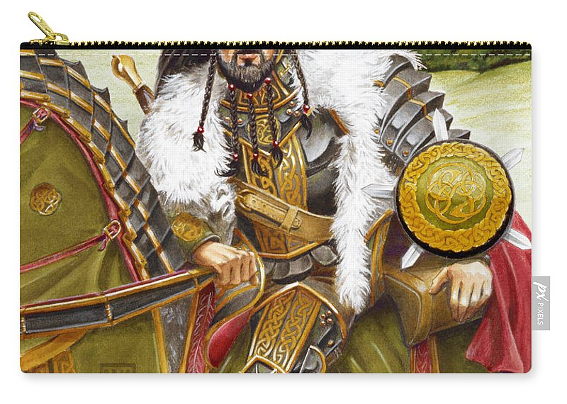 Fine Art Carry-all Pouch featuring the painting Sir Marhaus by Melissa A Benson