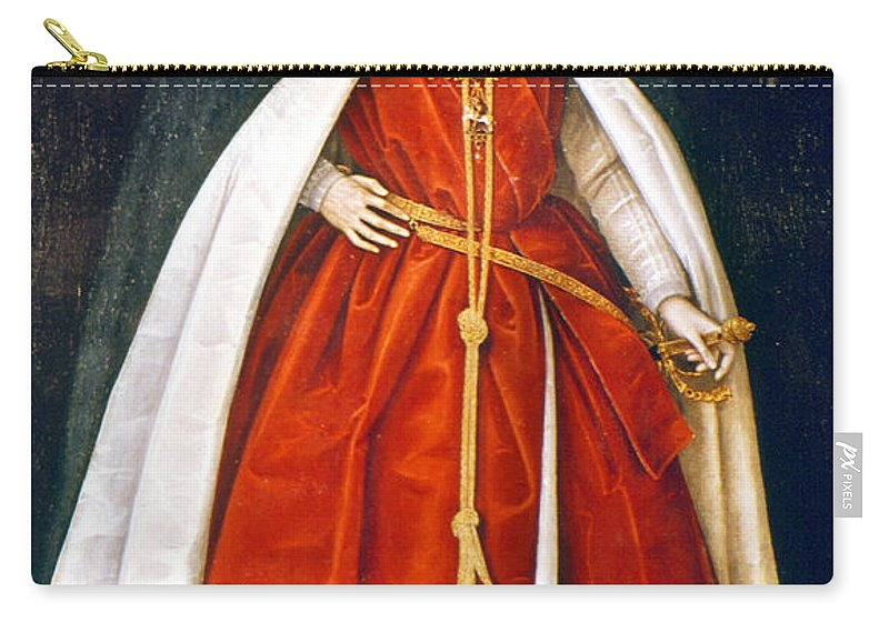 1597 Carry-all Pouch featuring the painting Sir Robert Devereux (1566-1601) by Granger