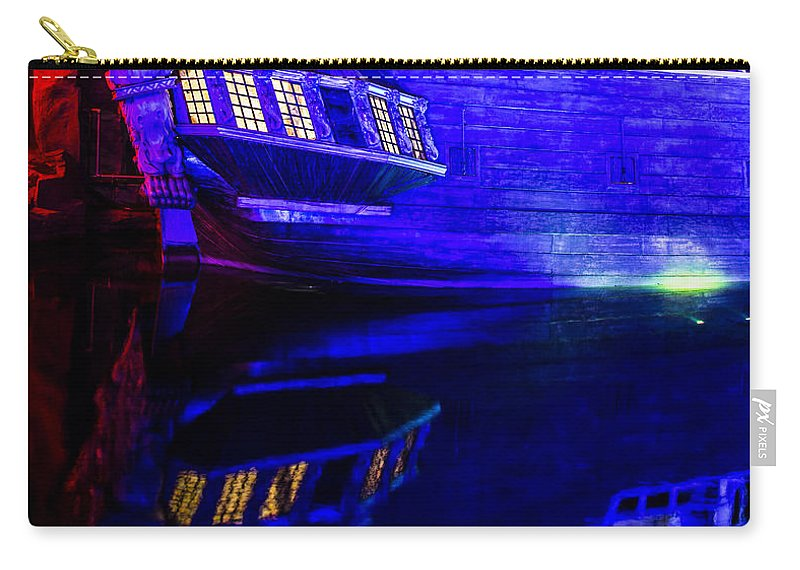 Las Vegas Carry-all Pouch featuring the photograph Siren Ship by Angus Hooper Iii