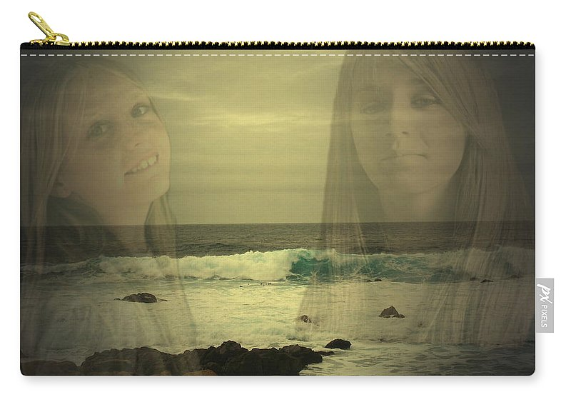 Custom Work Carry-all Pouch featuring the photograph Sisters Forever by Joyce Dickens