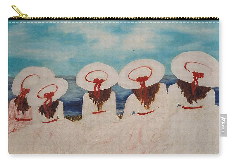 Sisters Carry-all Pouch featuring the painting Sisters by Lord Frederick Lyle Morris - Disabled Veteran