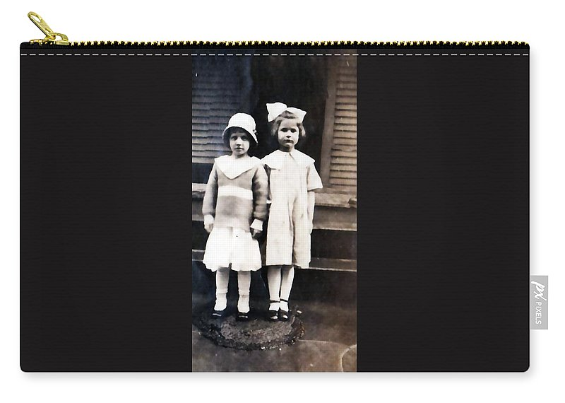 Vintage Carry-all Pouch featuring the photograph Sisters by Image Takers Photography LLC