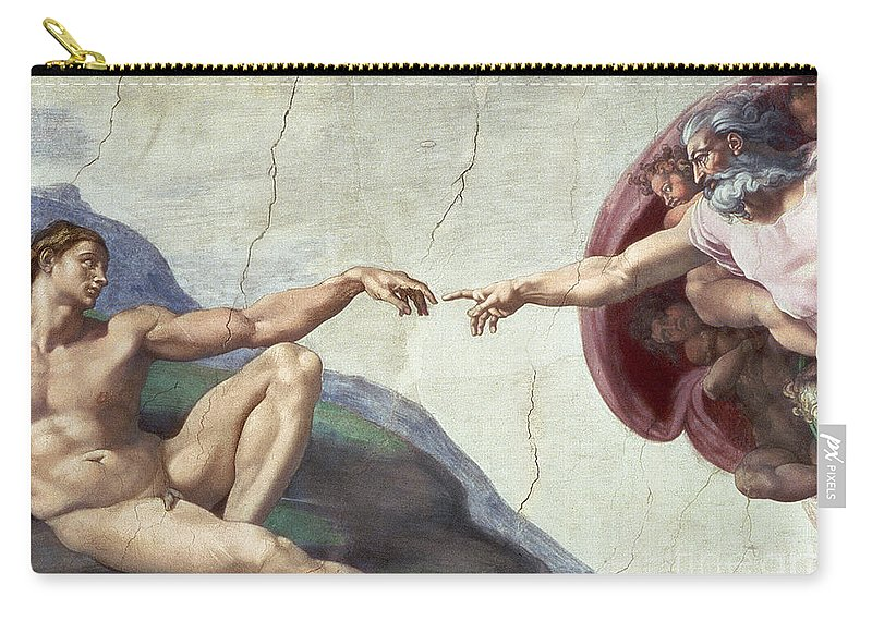 Renaissance Carry-all Pouch featuring the painting Sistine Chapel Ceiling by Michelangelo Buonarroti