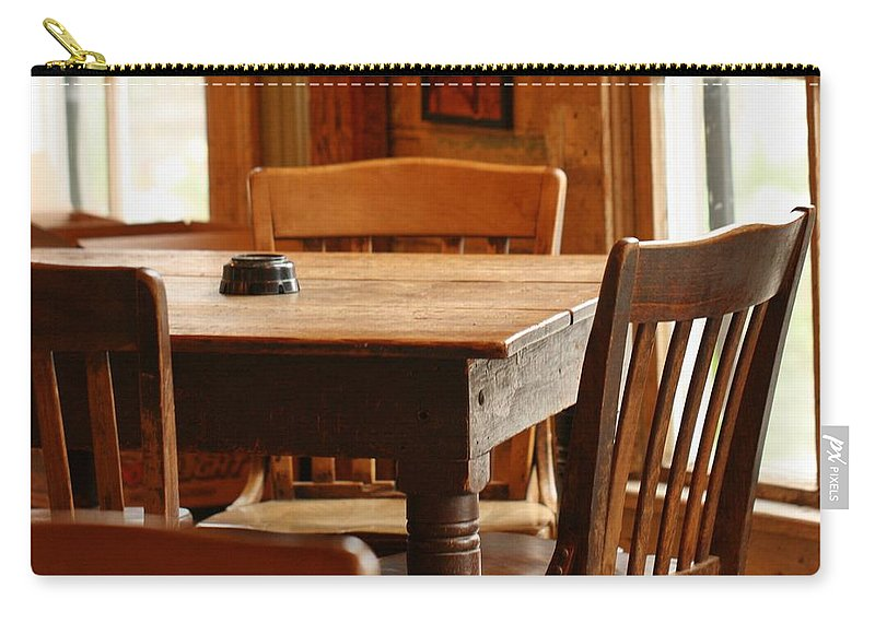 Table Carry-all Pouch featuring the photograph Sit Down For A Spell by Terry Fleckney