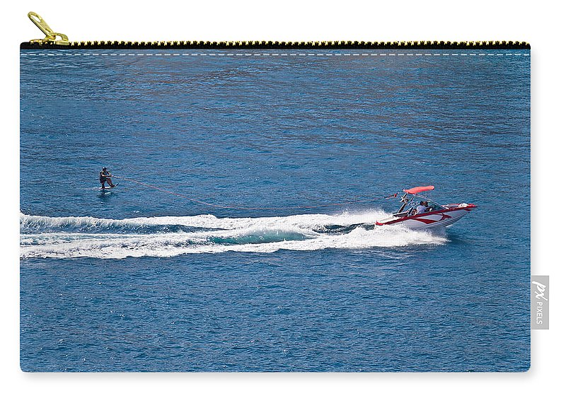Water Carry-all Pouch featuring the photograph Sit Down Hydrofoil Ski Sport by Brch Photography