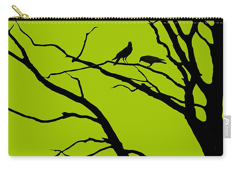 Light Green Carry-all Pouch featuring the digital art Sitting Around Prt 1 by Lourry Legarde