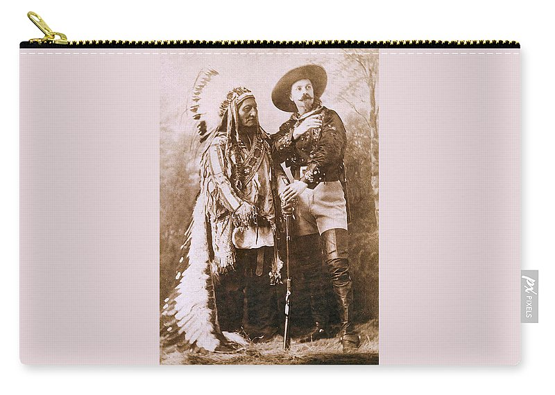 Sitting Bull And Buffalo Bill Carry-all Pouch featuring the photograph Sitting Bull And Buffalo Bill by Unknown
