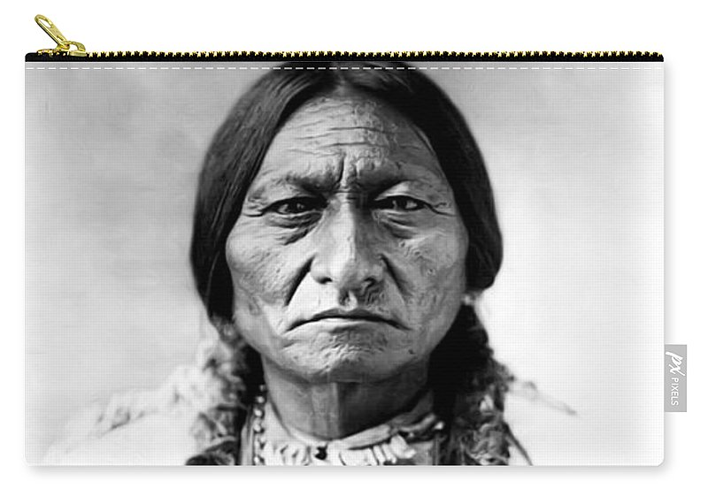 Sitting Bull Carry-all Pouch featuring the photograph Sitting Bull by Bill Cannon