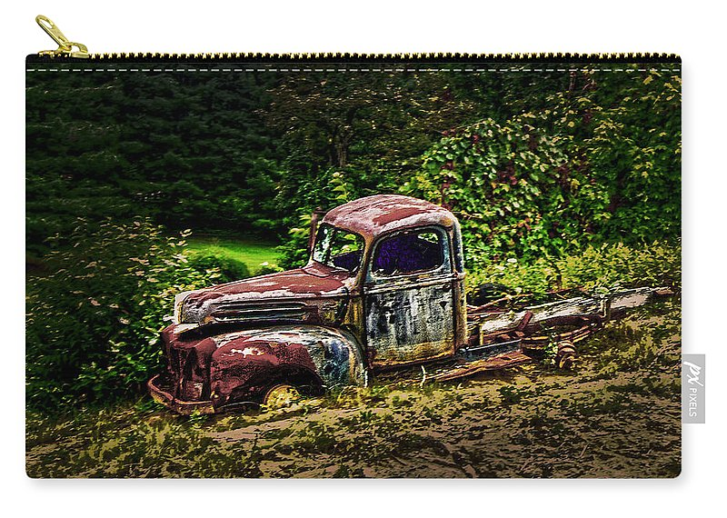 Over Sixty Carry-all Pouch featuring the photograph Sixty Years Old Forty's Forgotten N by Randall Branham