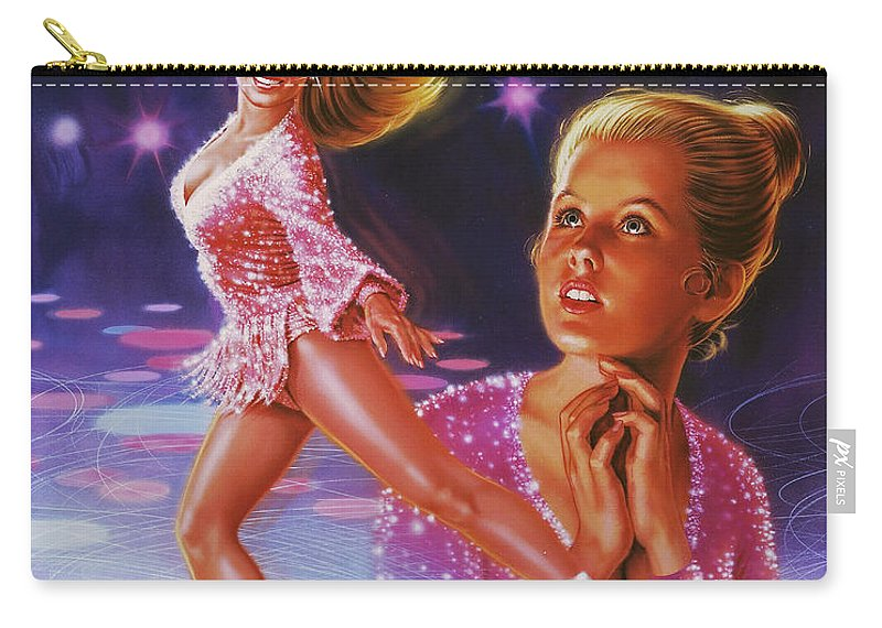 Portrait Carry-all Pouch featuring the painting Skaters Dream by Dick Bobnick