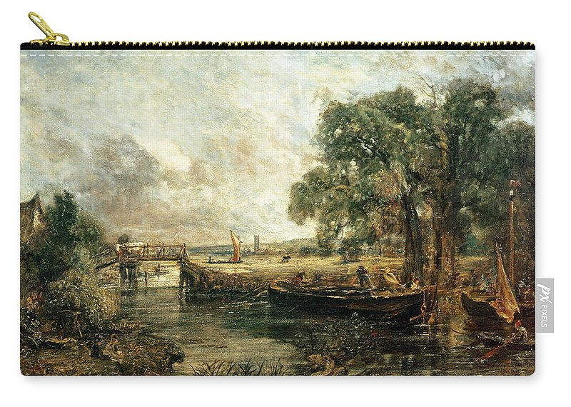Landscape Carry-all Pouch featuring the painting Sketch For View On The Stour by John Constable