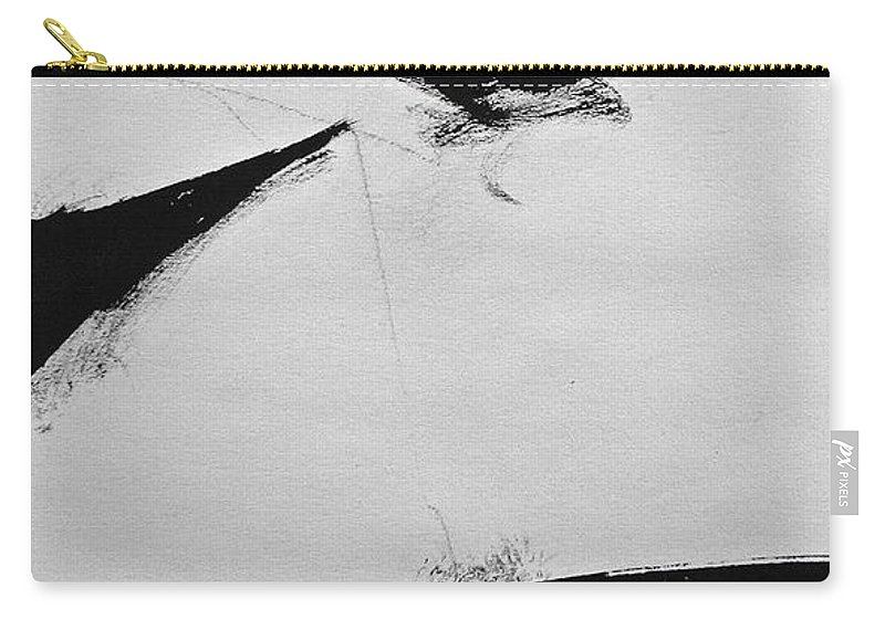 Abstract Paintings Carry-all Pouch featuring the drawing Sketchbook 1 Pg 33 by Cliff Spohn