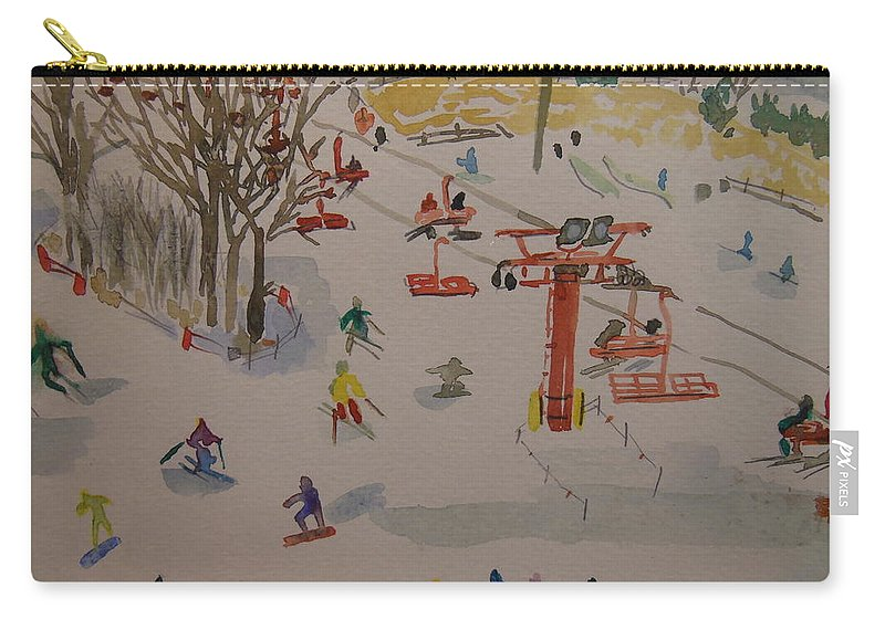 Great Bear Carry-all Pouch featuring the painting Ski Area by Rodger Ellingson