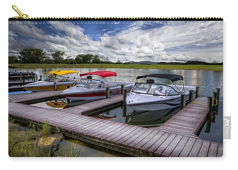 Boats Carry-all Pouch featuring the photograph Ski Nautique by Debra and Dave Vanderlaan