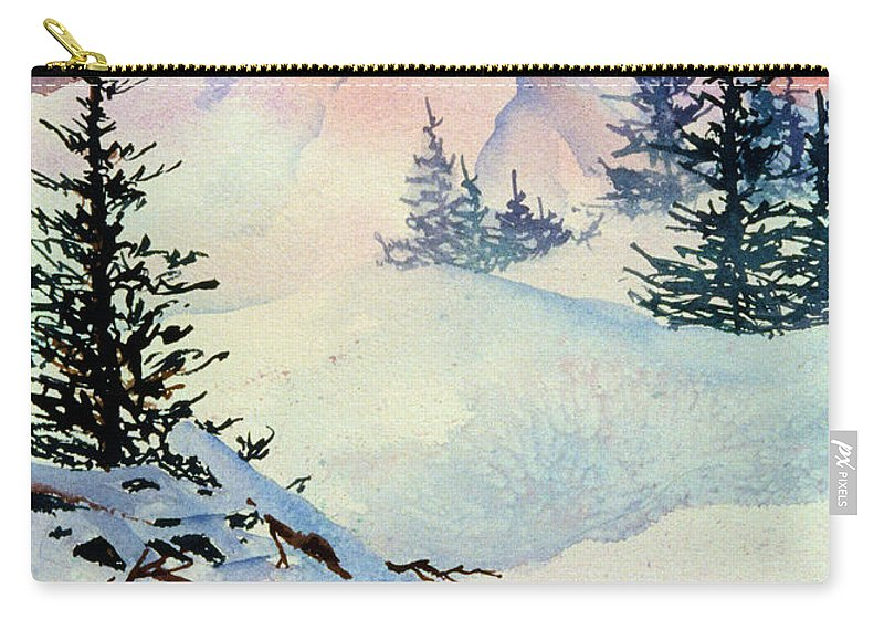 Ski View Carry-all Pouch featuring the painting Ski View by Teresa Ascone