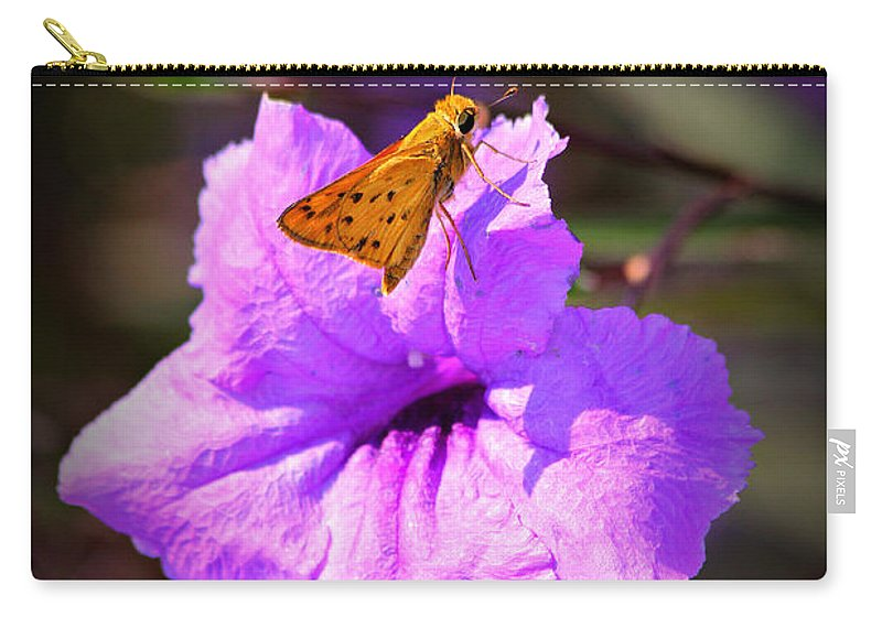 Skipper Carry-all Pouch featuring the photograph Skip It Insect Art by Reid Callaway