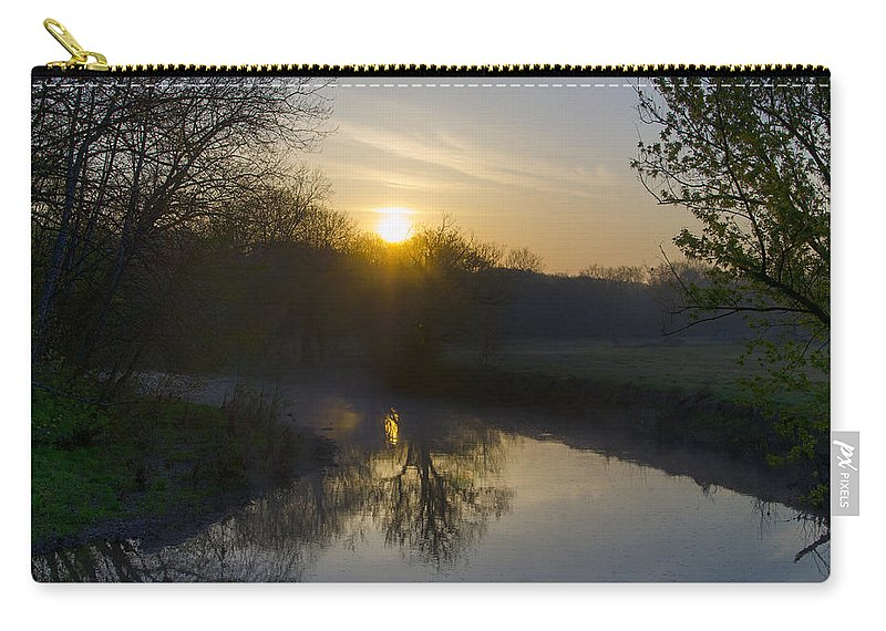 Skippack Carry-all Pouch featuring the photograph Skippack Creek Sunrise by Bill Cannon