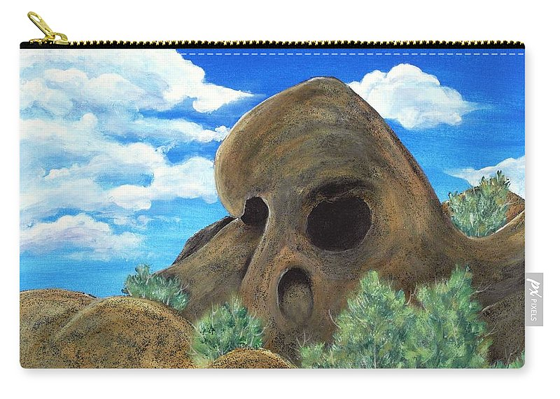 Malakhova Carry-all Pouch featuring the painting Skull Rock by Anastasiya Malakhova