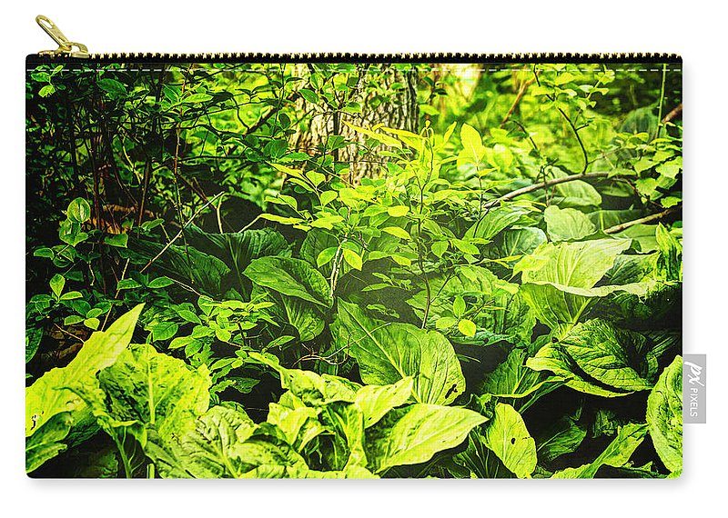 Skunk Cabbage Carry-all Pouch featuring the photograph Skunk Cabbage Thicket by Mother Nature