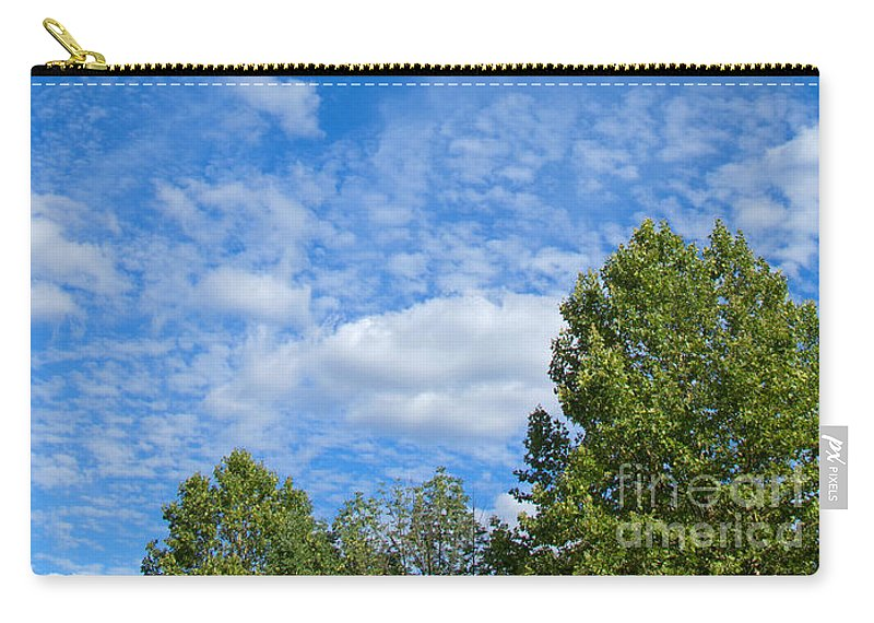 Clouds Carry-all Pouch featuring the photograph Sky Blue Summer Art by Ann Horn