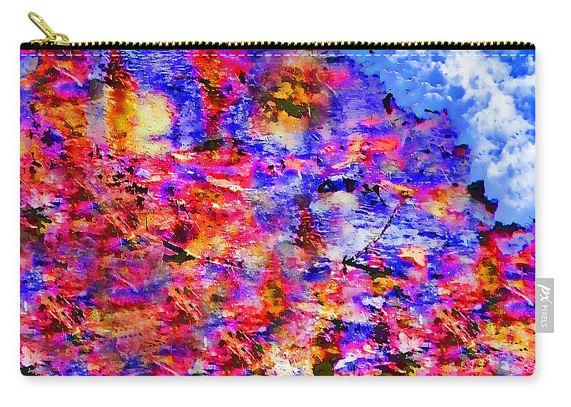 Abstract Carry-all Pouch featuring the digital art Sky Break Through by Kristie Bonnewell