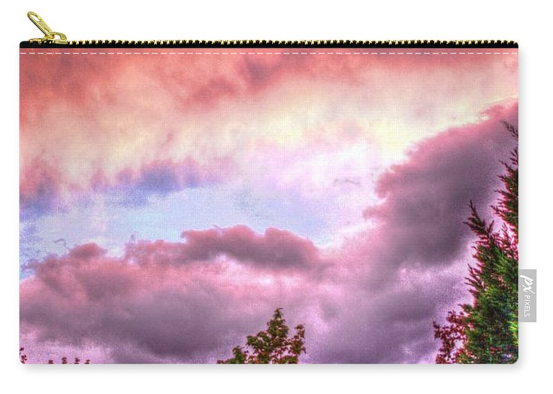 Background Carry-all Pouch featuring the photograph Sky Fire 2 by Dan Stone