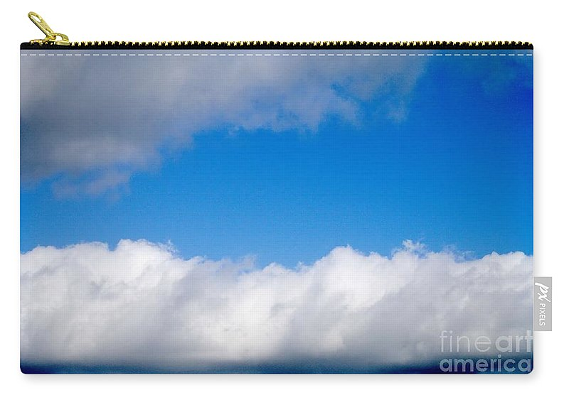 Clouds Carry-all Pouch featuring the photograph Sky Layers by Gary Richards