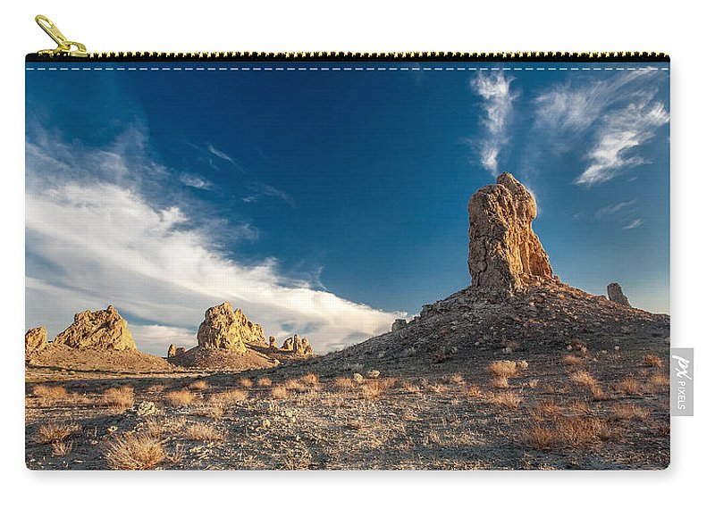 Big Sky Carry-all Pouch featuring the photograph Sky Masters - Trona Pinnacles by Peter Tellone