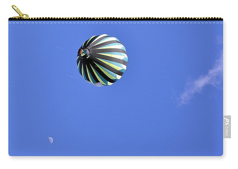 Sports Carry-all Pouch featuring the photograph Sky Moon And Balloon by AJ Schibig