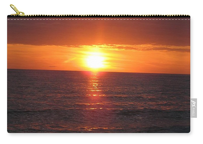 Sunset Carry-all Pouch featuring the photograph Sky On Fire I by Christiane Schulze Art And Photography