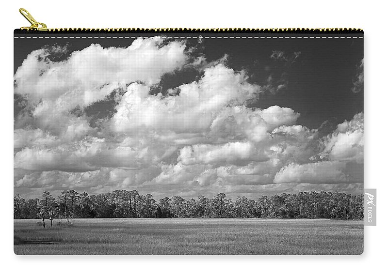 Florida Carry-all Pouch featuring the photograph Sky Over St. Marks by Bill Chambers