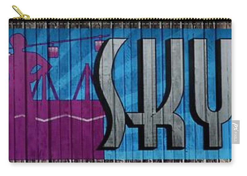 Ride Carry-all Pouch featuring the photograph Sky Ride Panorama by Deena Stoddard