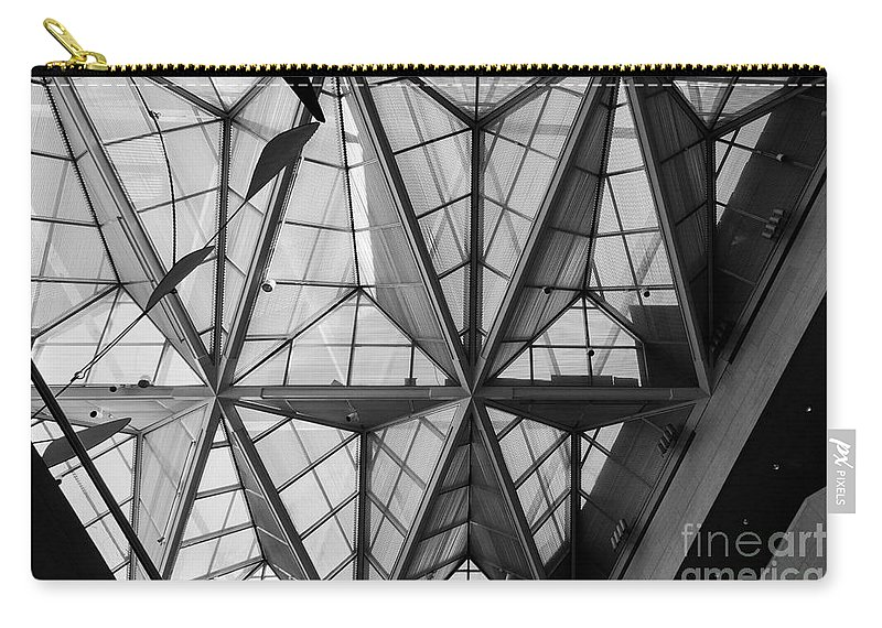 Architecture Carry-all Pouch featuring the photograph Skylight by Thomas Marchessault