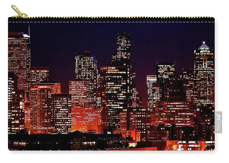 Seattle Carry-all Pouch featuring the photograph Skyline by Benjamin Yeager