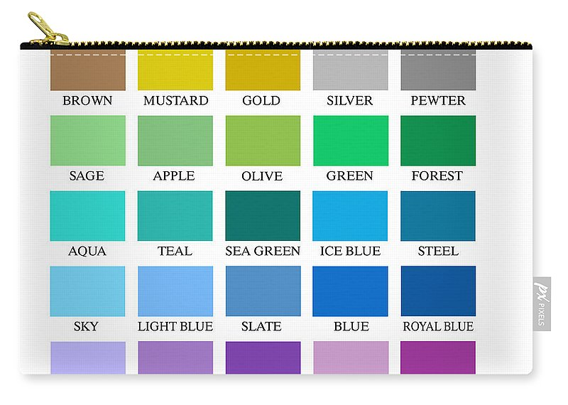 Skyline Series Color Chart Carry All Pouch For Sale By Db Artist