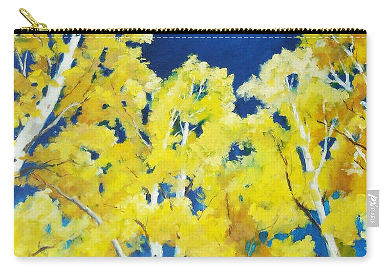 Sky Carry-all Pouch featuring the painting Skyward by Richard T Pranke