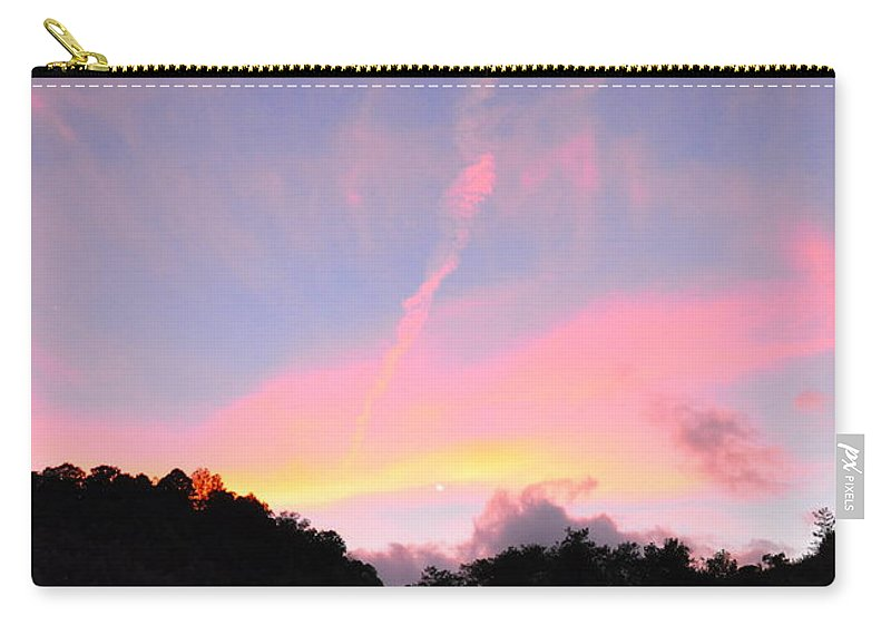 Sky Carry-all Pouch featuring the photograph Skywriting by Christina McKinney