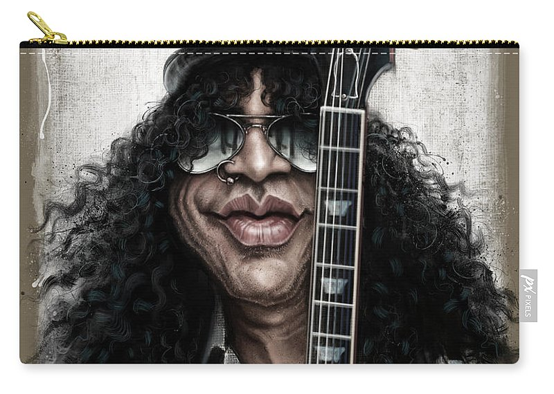 Slash Carry-all Pouch featuring the digital art Slash by Andre Koekemoer