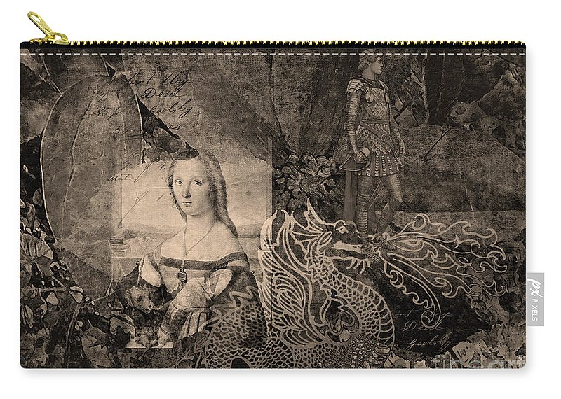 Fine Art Print Carry-all Pouch featuring the digital art Slaying Dragons II by Patricia Griffin Brett