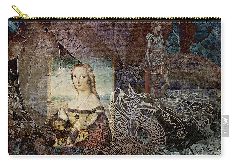 Fine Art Print Carry-all Pouch featuring the digital art Slaying Dragons by Patricia Griffin Brett