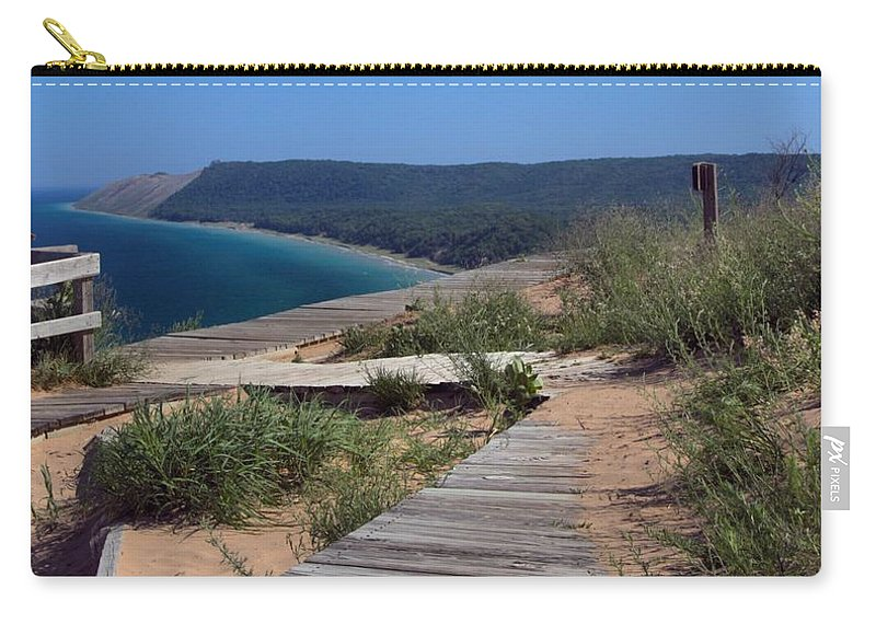Sleeping Bear Dunes From Empire Bluffs Carry-all Pouch featuring the photograph Sleeping Bear Dunes From Empire Bluffs by Dan Sproul