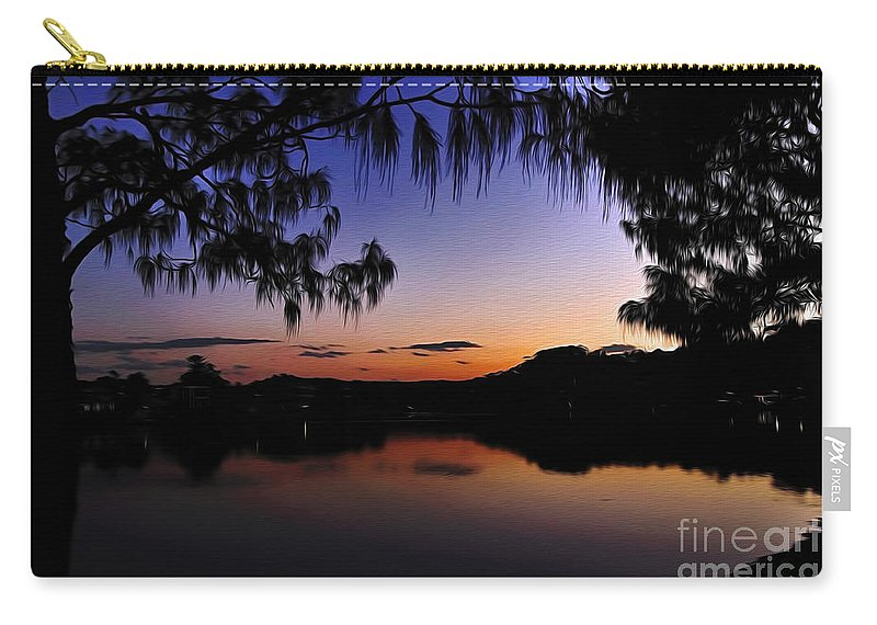 Photography Carry-all Pouch featuring the photograph Sleeping Sun by Kaye Menner