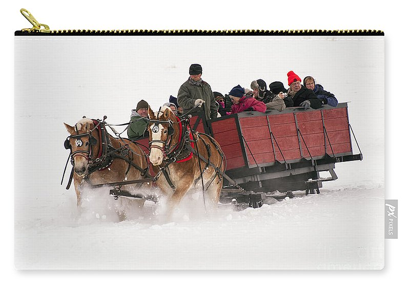 Jackson Hole Carry-all Pouch featuring the photograph Sleigh Ride by Bob Phillips