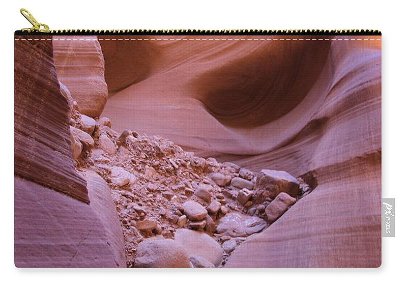 Natures Art Carry-all Pouch featuring the photograph Slip Rock In Antelope Canyon by Christiane Schulze Art And Photography