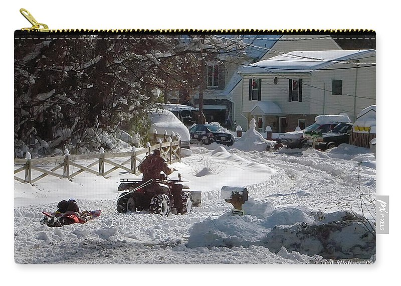 2d Carry-all Pouch featuring the photograph Slip Sliding Away by Brian Wallace