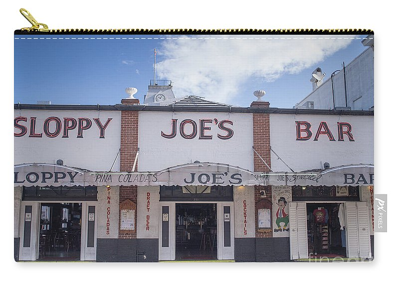 Sloppy Joe's Bar Carry-all Pouch featuring the photograph Sloppy Joe's by Tracy Knauer