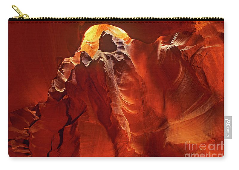 North America Carry-all Pouch featuring the photograph Slot Canyon Formations In Upper Antelope Canyon Arizona by Dave Welling