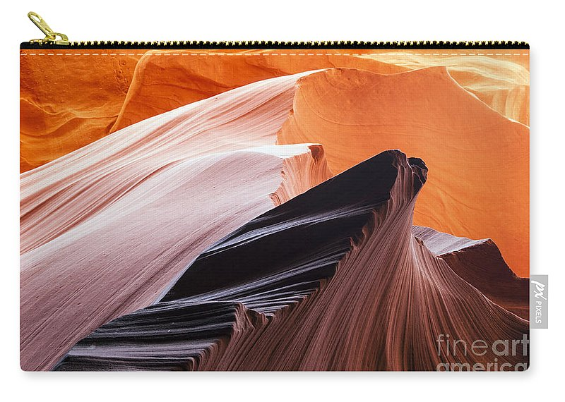 Lower Antelope Slot Canyon Carry-all Pouch featuring the photograph Slot Canyon Swirl by Bob Phillips